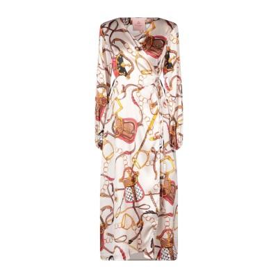 KITAGI® 7分丈ワンピース・ドレス アイボリー 44 シルク 95% / ポリウレタン 5% 7分丈ワンピース・ドレス