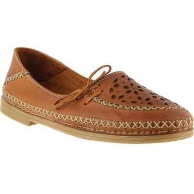 スプリングステップ Spring Step レディース スリッポン・フラット シューズ・靴 Sideway Slip On Light Brown Leather