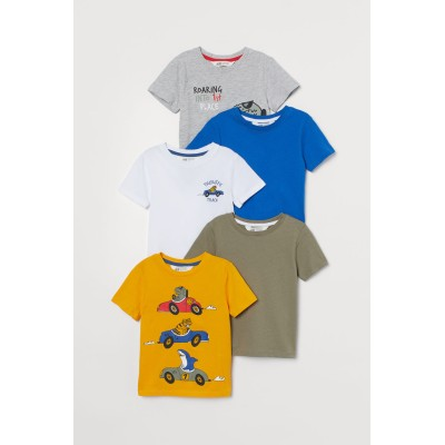 H&M - コットンTシャツ 5枚セット - イエロー