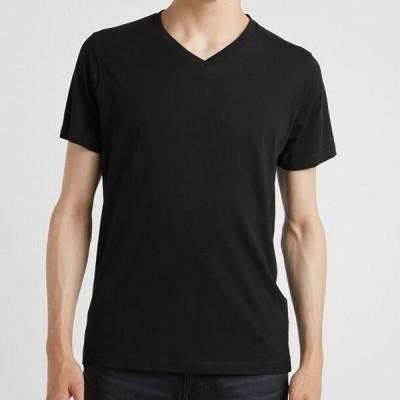 メンズ ファッション DUO 2 PACK - Basic T-shirt - black