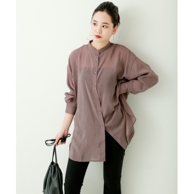 MARLENE JOBERT / シア-ポプリン バックスリットシャツ WOMEN トップス > シャツ/ブラウス