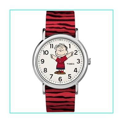 【新品】Timex Unisex TW2R41200 Weekender 38mm Peanuts Linus Nylon Slip-Thru Strap Watch(並行輸入品)