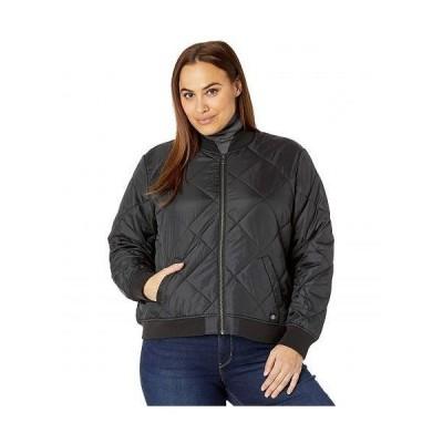 Dickies ディッキー レディース 女性用 ファッション アウター ジャケット コート カジュアルジャケット Plus Size Quilted Bomber Jacket - Black