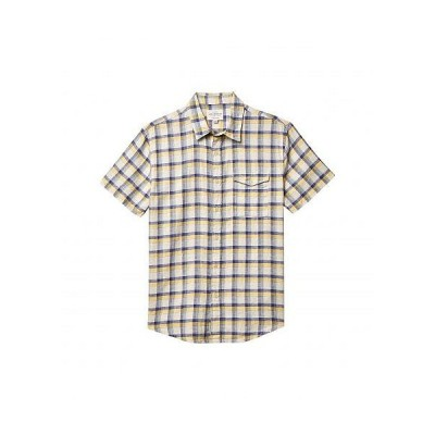 Lucky Brand ラッキーブランド メンズ 男性用 ファッション ボタンシャツ Plaid Monroe Short Sleeve Shirt - Yellow Plaid