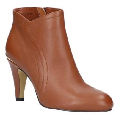 ベラヴィータ ブーツ&レインブーツ シューズ レディース Phyllis Ankle Bootie (Women's) Dark Tan Leather