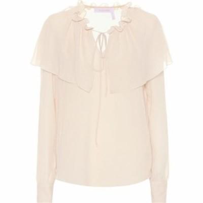 クロエ See By Chloe レディース ブラウス・シャツ トップス Ruffled georgette blouse Foggy Ivory