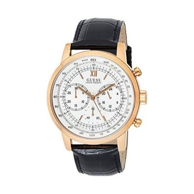 Guess Watches メンズ Guess レザー-ローズゴールド 腕時計