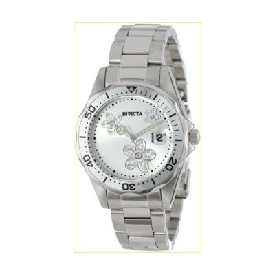 Invicta Women's 12506 Pro Diver Silver Dial Crystal Accented Stainless Steel Watch 並行輸入品