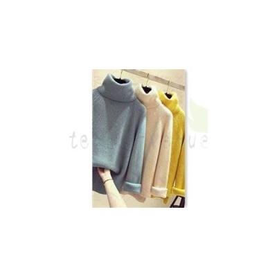 セーター ニット レディース ニットセーター 長袖 タートルネック プルオーバー ゆったり 無地 防寒 暖かい あったか おしゃれ 秋物 冬物 新作
