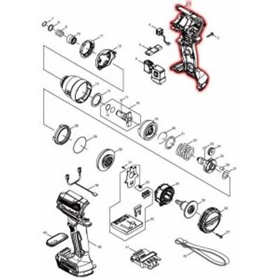 マキタ 部品 ハウジングセット品(オーセンティックブラウン) 183J62-4 図番002 TD171D/TD161D用