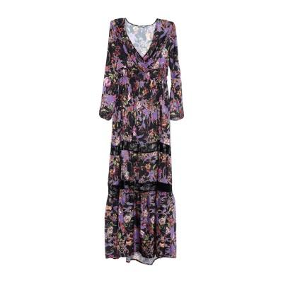 リュー ジョー LIU •JO ロングワンピース&ドレス ブラック 42 ポリエステル 100% / ナイロン / ポリウレタン ロングワンピース&