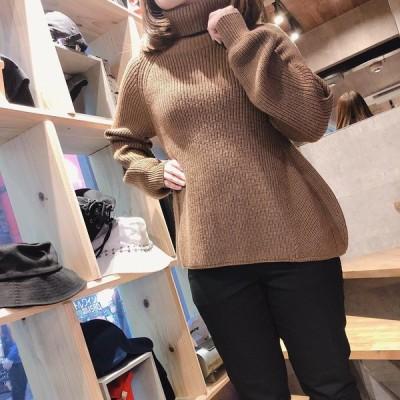ニット 長袖 タートル ウール レディース Odour オウダー Turtle neck sweater