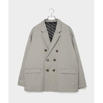 VANQUISH / Plover Pattern Double Tailored Jacket * WOMEN ジャケット/アウター > テーラードジャケット
