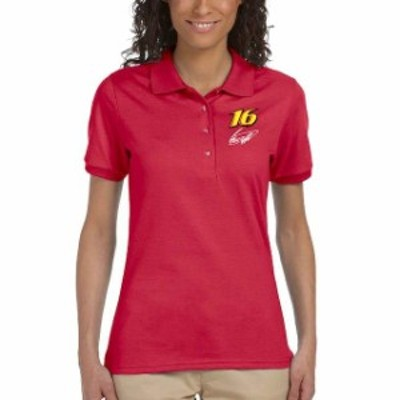 Checkered Flag チェッカード フラッグ スポーツ用品  Checkered Flag Sports Greg Biffle Womens Racer Polo - Red