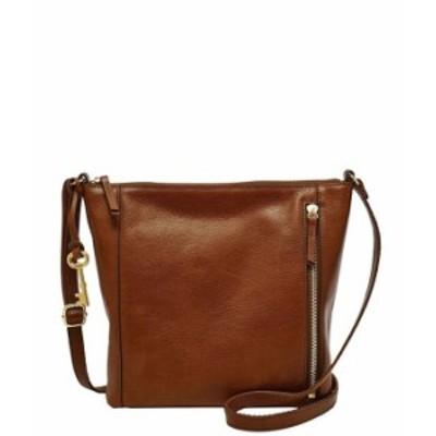 フォッシル レディース ショルダーバッグ バッグ Tara Leather Crossbody Bag Brandy