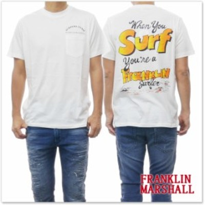 【旧作処分セール 60%OFF!】FRANKLIN&MARSHALL フランクリン&マーシャル メンズクルーネックTシャツ TSMF430AN ホワイト