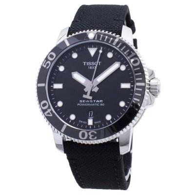 ティソ 腕時計 *BRAND NEW* Tissot メンズ SEASTAR シースター1000 Automatic Black Dial Watch T1204071705100