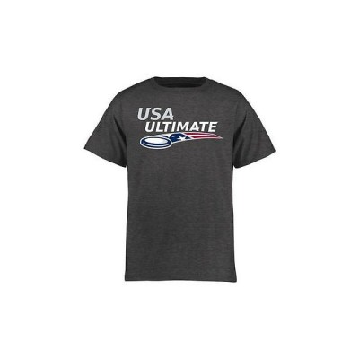 海外バイヤーおすすめ アメリカ USA メジャー リーグ 全米 野球 MLB USA Ultimate ユース ダーク グレー ロゴ Tシャツ