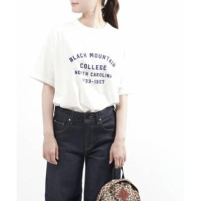トラヴァイユマニュアル プリントTシャツ ロゴT BLACK MOUNTAIN COLLEGE TRAVAIL MANUEL 211025 国内正規品 2021春夏新作 メール便可能商