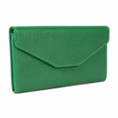 通帳ケース 磁気防止 収納力アップ 大人可愛いスマートケース カードケース 長財布  アウトレット商品  グリーン