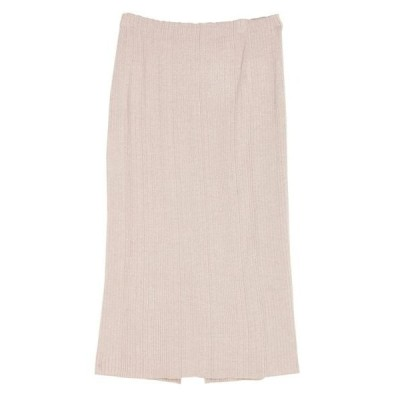 スカート スリムリブニットスカート