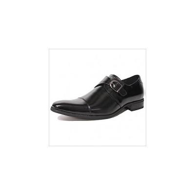 モンクストラップ ビジネスシューズ ストレートチップ メンズ 紳士用 フォーマル ビジネス カジュアル 結婚式 靴 レザー 革靴 ブラック 黒