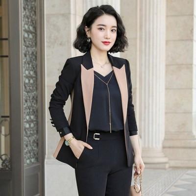プロのスーツの女性のカラーマッチングスーツ秋と冬の新しい韓国のファッションドレスXiaoxiangfengスーツ作業服