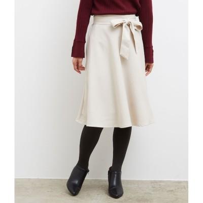 【ロペピクニック/ROPE' PICNIC】 【新色追加】プレミアムフィールリボン付きフレアスカート