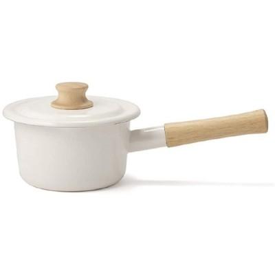 富士ホーロー 片手鍋 ミルクパン コットンシリーズ ホワイト 14cm CTN-14M.W
