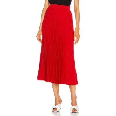バレンシアガ Balenciaga レディース ひざ丈スカート スカート pleated midi skirt Red/Black