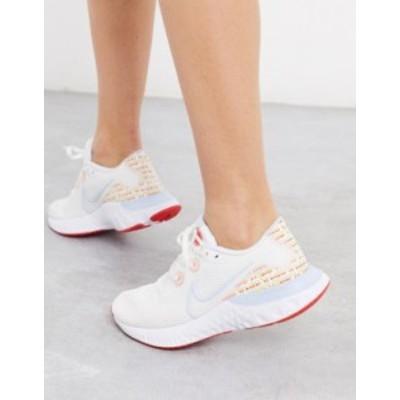 ナイキ レディース スニーカー シューズ Nike Running Renew Run sneakers in white White