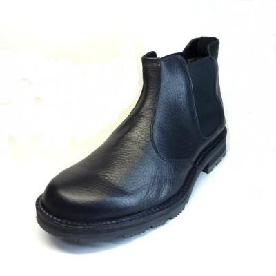 リーガル 靴 メンズ  REGAL WALKER 283W ブラック 3E EEE 防水 本革シュリンクレザー 雪道対応ソール メンズ サイドゴアブーツ 日本製