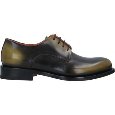 サントーニ SANTONI メンズ 革靴・ビジネスシューズ シューズ・靴 Laced Shoes Military green