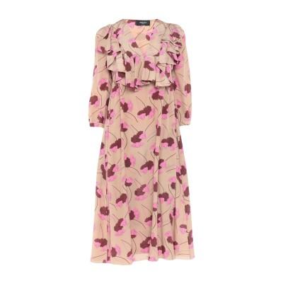 ロシャス ROCHAS 7分丈ワンピース・ドレス ベージュ 40 シルク 100% 7分丈ワンピース・ドレス