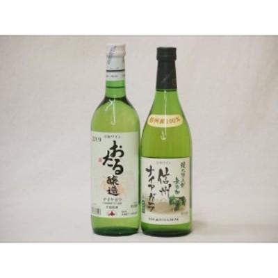 国産葡萄100%ナイアガラ甘口白ワインセット(北海道おたる1本 長野県信州1本) 計2本