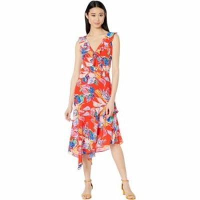 ミリー Milly レディース ワンピース ワンピース・ドレス Bouquet Floral Silk Crepe De Chine Alexis Dress Red Multi