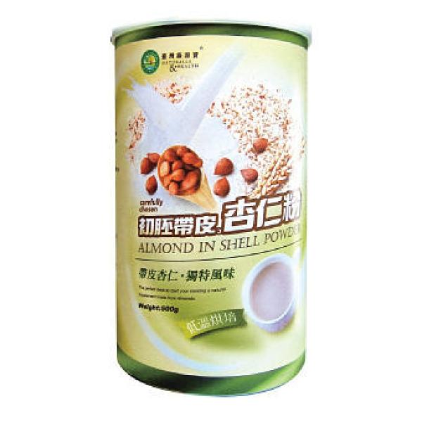 台灣綠源寶 初胚帶皮杏仁粉 500g   6罐