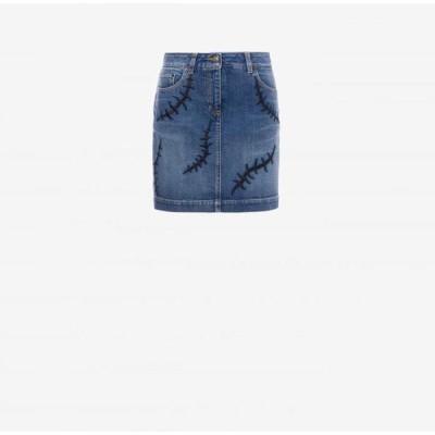 MOSCHINO(モスキーノ)「KK7227103」Scars デニムミニスカート 正規品 ※返品交換不可
