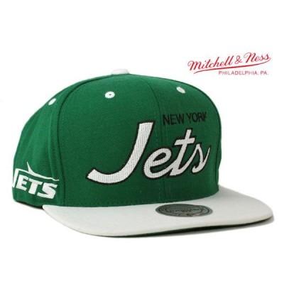 ミッチェル&ネス スナップバックキャップ 帽子 MITCHELL&NESS メンズ レディース NFL ニューヨーク ジェッツ gn