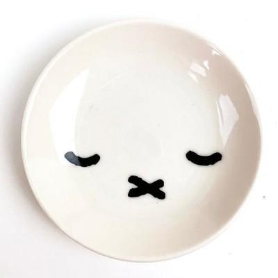 miffy ミッフィー シンプルフェイス ミニプレート スリープ 醤油皿 小皿 プレート お顔 ホワイト グッズ 日本製