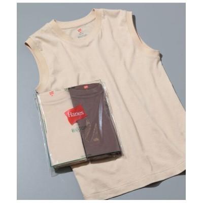 ADAM ET ROPE'/アダム エ ロペ 【Hanes for BIOTOP】Sleeveless T-Shirts/color ダークブラウン(20) M