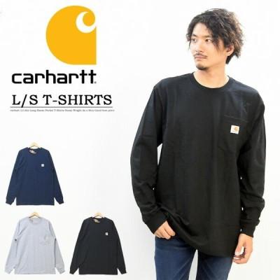 Carhartt カーハート  胸ポケット 長袖 Tシャツ 無地 ワンポイント ポケットTシャツ K126