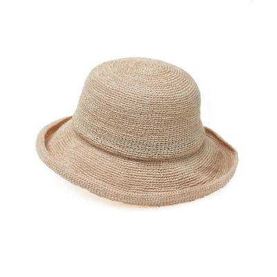 14+(ICHIYON PLUS) / PREMIUM麻サーモ糸のつば広ハット WOMEN 帽子 > ハット