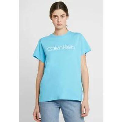 Calvin Klein レディーストップス Calvin Klein LOGO - Print T-shirt - b