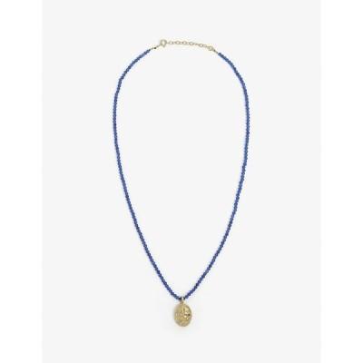 ヘルミナ アテネ HERMINA ATHENS レディース ネックレス ジュエリー・アクセサリー Sealstone Runner gold-plated beaded necklace GOLD/BLUE