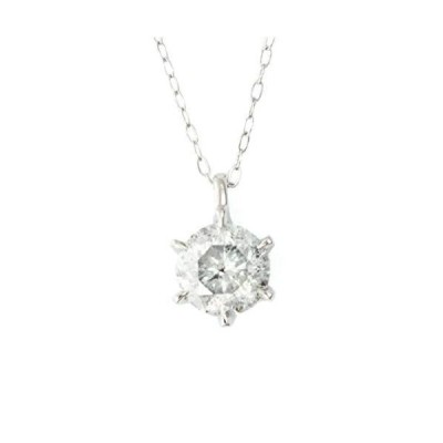 One&Only Jewellery【鑑定書付】 白系 Hカラー 1ct Up 天然ダイヤモンド Pt900 6本爪 ペンダント