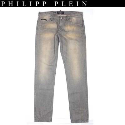 フィリッププレイン PHILIPP PLEIN メンズ ボトムス デニムパンツ ジーンズ classic chic ポケット部分ロゴプレート付きデニムパンツ 色違いあり HM570002 10GD