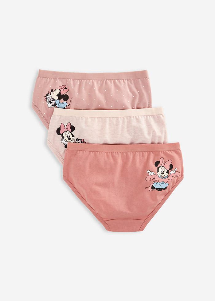 (女童三入組)迪士尼系列.緊帶三角內褲(米妮/剪紙/費加洛)