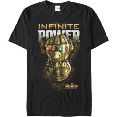 マーベル Marvel メンズ Tシャツ トップス Avengers Infinity War The Gauntlet of Infinite Power Short Sleeve T-Shirt Black
