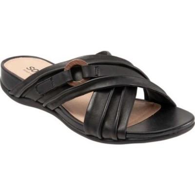 ソフトウォーク SoftWalk レディース サンダル・ミュール シューズ・靴 Taza Slide Black Leather